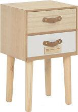vidaXL Table de chevet avec 2 tiroirs 30x25x49,5