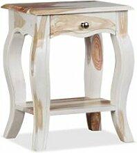 Vidaxl table de chevet bois massif de sesham 40 x