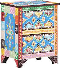 vidaXL Table de chevet peinte à la main 40x30x50