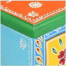 Vidaxl table de chevet peinte à la main 40x30x60
