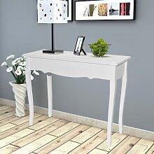 vidaXL Table de console et coiffeuse Blanc