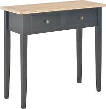 vidaXL Table de console et coiffeuse Noir 79x30x74