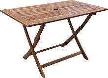 vidaXL Table de jardin 120x70x75 cm Bois