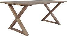 vidaXL Table de jardin 180x90x76cm Bois de teck de