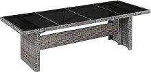 vidaXL Table de jardin 240x90x74 cm Résine