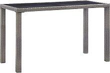vidaXL Table de jardin Anthracite 123x60x74 cm