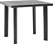 vidaXL Table de jardin Anthracite 80x75x72 cm