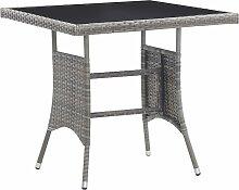 vidaXL Table de jardin Anthracite 80x80x74 cm