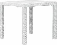 Vidaxl - Table de Jardin Aspect de Rotin Plastique
