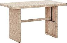 vidaXL Table de jardin Beige 110x60x74 cm Résine