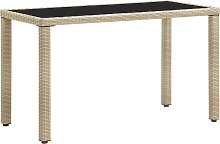 vidaXL Table de jardin Beige 123x60x74 cm Résine