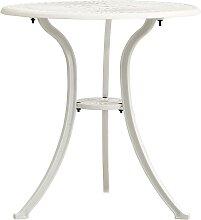 vidaXL Table de jardin Blanc 62x62x65 cm Aluminium