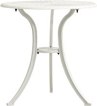 Vidaxl - Table de jardin Blanc 62x62x65 cm