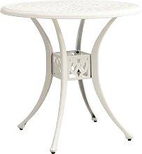 vidaXL Table de jardin Blanc 78x78x72 cm Aluminium