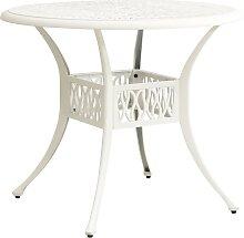 vidaXL Table de jardin Blanc 90x90x74 cm Aluminium