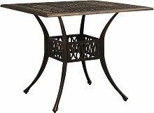 vidaXL Table de jardin Bronze 90x90x73 cm