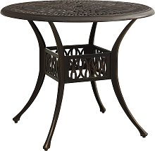 vidaXL Table de jardin Bronze 90x90x74 cm