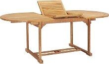 vidaXL Table de jardin extensible 150-200x100x75