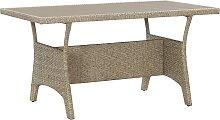 vidaXL Table de jardin Gris 130x70x66 cm Résine
