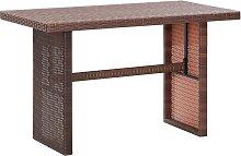 vidaXL Table de jardin Marron 110x60x74 cm Résine
