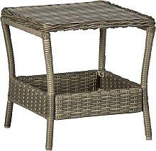 vidaXL Table de jardin Marron 45x45x46,5 cm