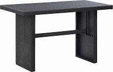 vidaXL Table de jardin Noir 110x60x74 cm Résine