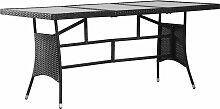 vidaXL Table de jardin Noir 170x80x74 cm Résine