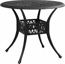 vidaXL Table de jardin Noir 90x90x74 cm Aluminium