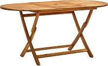 vidaXL Table de jardin pliable 160x85x75 cm Bois