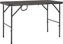 vidaXL Table de jardin pliante Marron 120x60x74cm