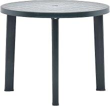 vidaXL Table de jardin Vert 89 cm Plastique