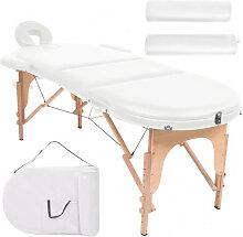vidaXL Table de massage pliable 10cm