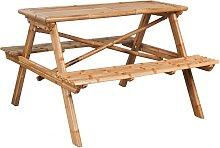 vidaXL Table de pique-nique 120 x 120 x 78 cm