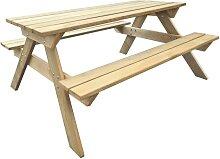 vidaXL Table de pique-nique 150 x 135 x 71,5 cm