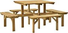 vidaXL Table de pique-nique 4 côtés 172x172x73
