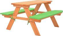 vidaXL Table de pique-nique pour enfants avec