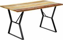 vidaXL Table de salle à manger 140x80x76cm Bois