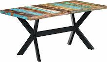 vidaXL Table de salle à manger 160x80x75cm Bois