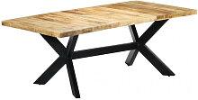 vidaXL Table de salle à manger 200x100x75 cm Bois