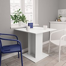 vidaXL Table de salle à manger Blanc 80 x 80 x 75