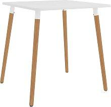 vidaXL Table de salle à manger Blanc 80x80x75 cm