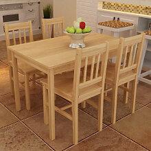vidaXL Table de salle à manger en bois avec 4