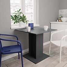vidaXL Table de salle à manger Gris 80 x 80 x 75