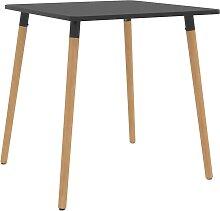 vidaXL Table de salle à manger Gris 80x80x75 cm
