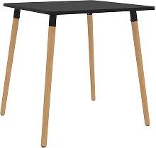 vidaXL Table de salle à manger Noir 80x80x75 cm