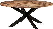 vidaXL Table de salle à manger Ronde 175x75 cm
