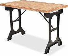 vidaXL Table de salle à manger Sapin massif