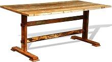 vidaXL Table de salle à manger vintage Bois