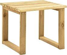 vidaXL Table de transat 30x30x26 cm Bois de pin