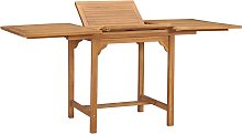 vidaXL Table extensible de jardin (110-160)x80x75